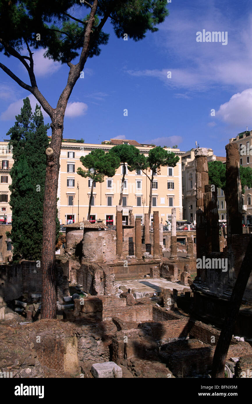 italy, rome, archaeological area of largo di torre argentina - Stock Image
