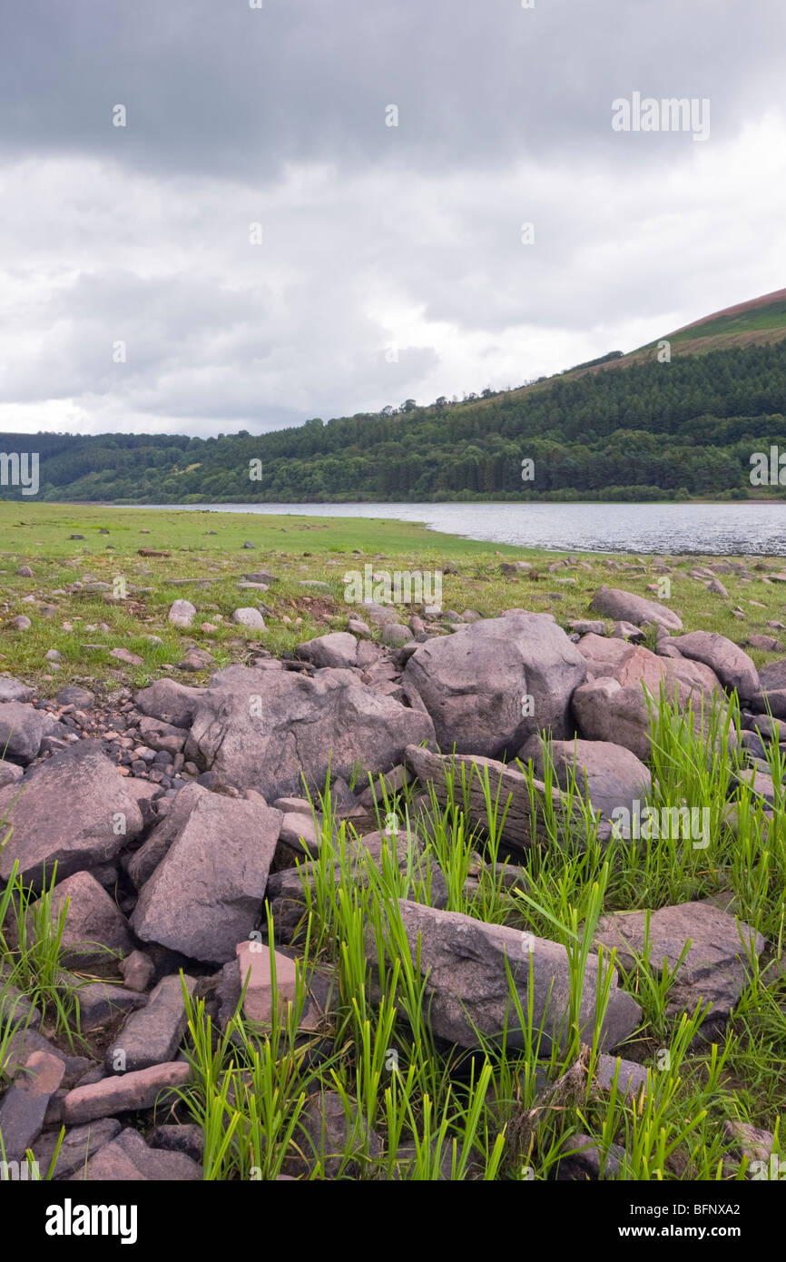 Views over Talybont reservoir - Stock Image