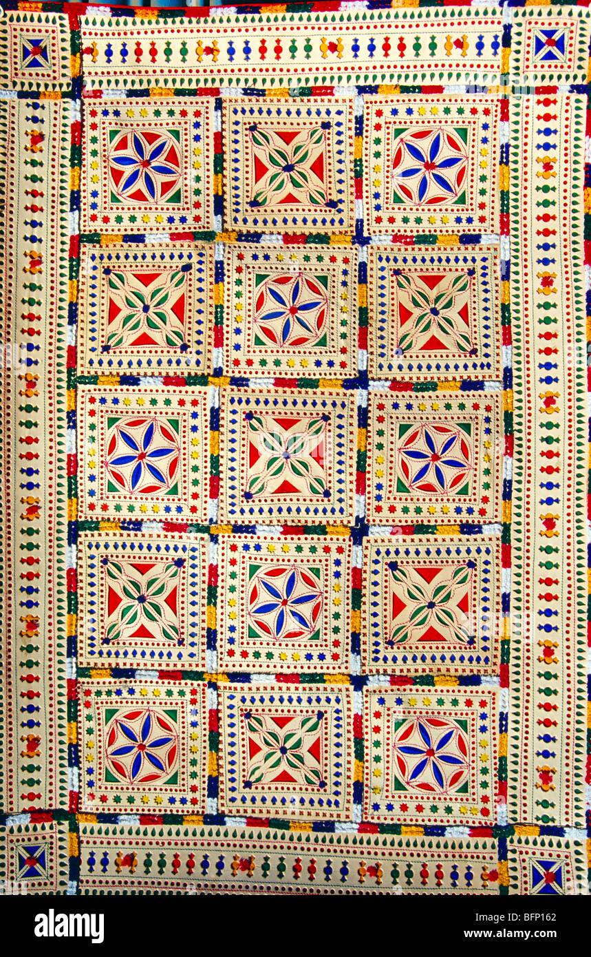 Leather quilt blanket ; Kutch ; Gujarat ; India - Stock Image