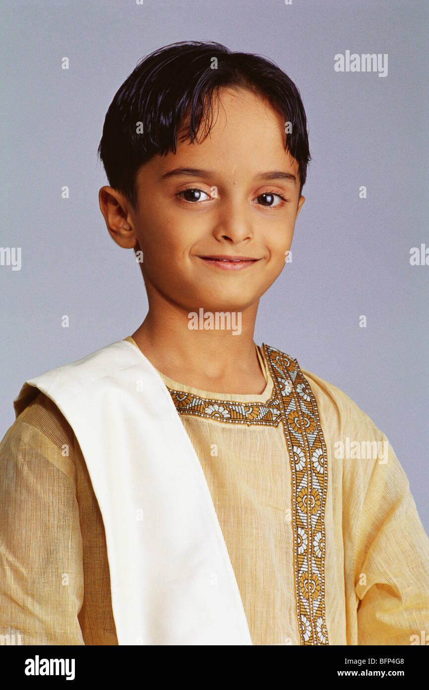 Indian Boy Dress Bengali Stock Photos & Indian Boy Dress