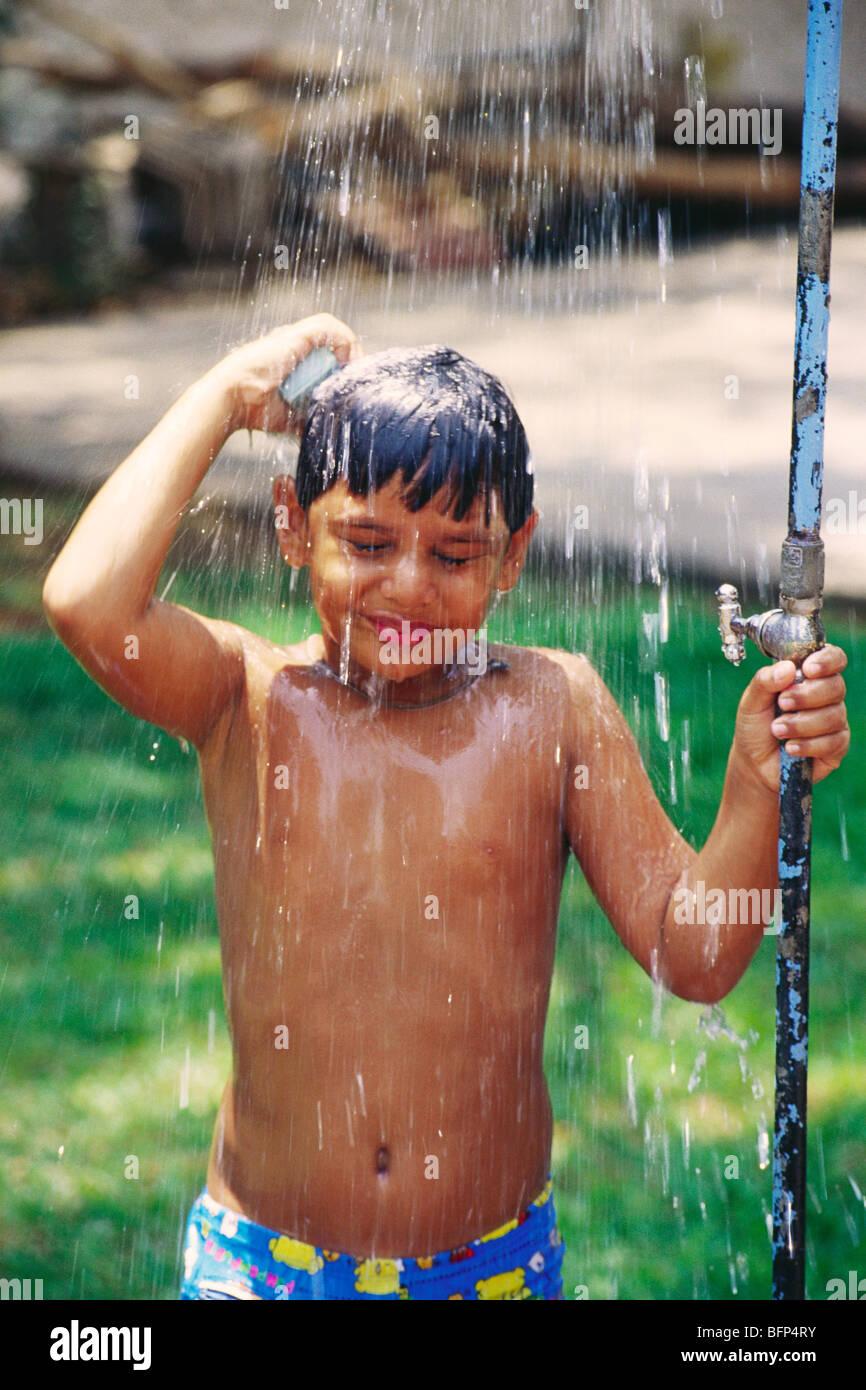 HMA 63789 : Boy bathing below shower MR#399 Stock Photo: 26916959 ...