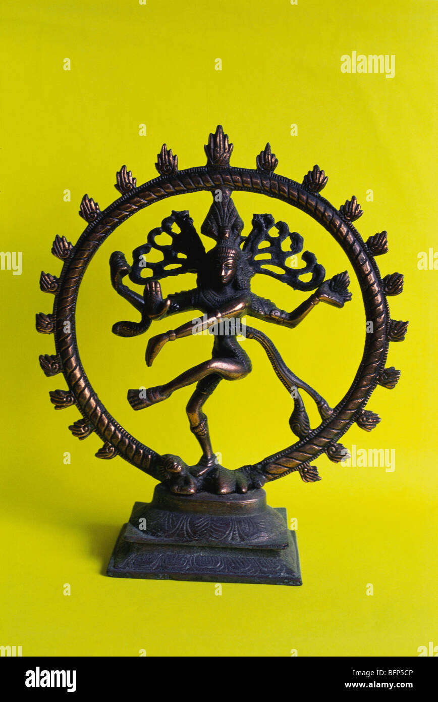 Shiva Nataraja Figur bronzefarben 20 cm Statue