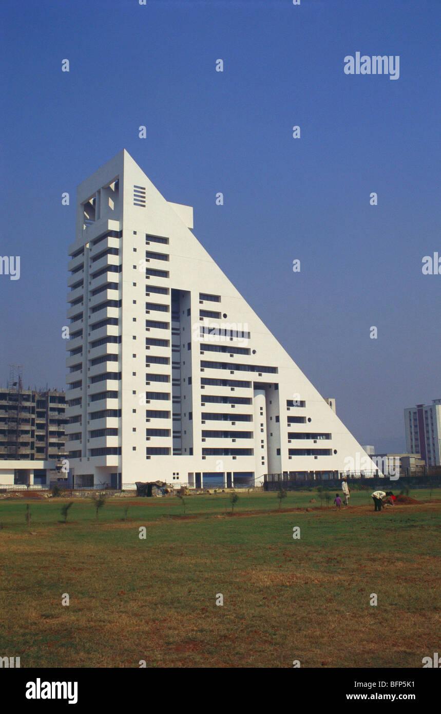 building in triangle shape new bombay maharashtra india stock
