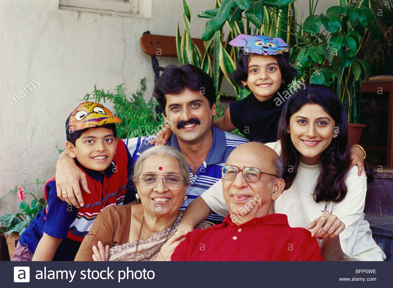 MAK 63908 : Indian Joint family MR#274;275;276;277;278;279 - Stock Image
