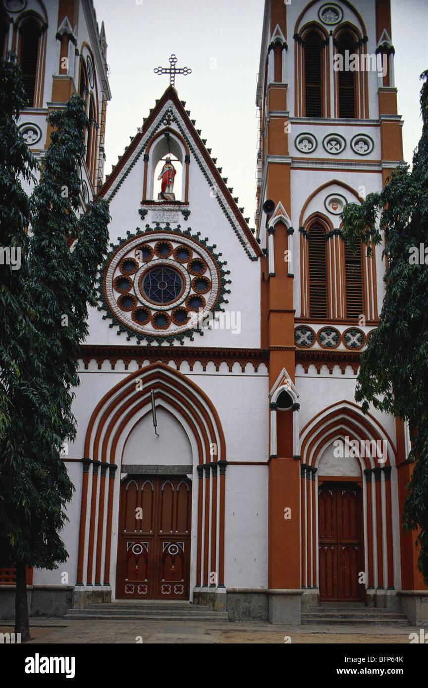 AAD 66239 : Sacred Heart cathedral ; Pondicherry UT ; India - Stock Image
