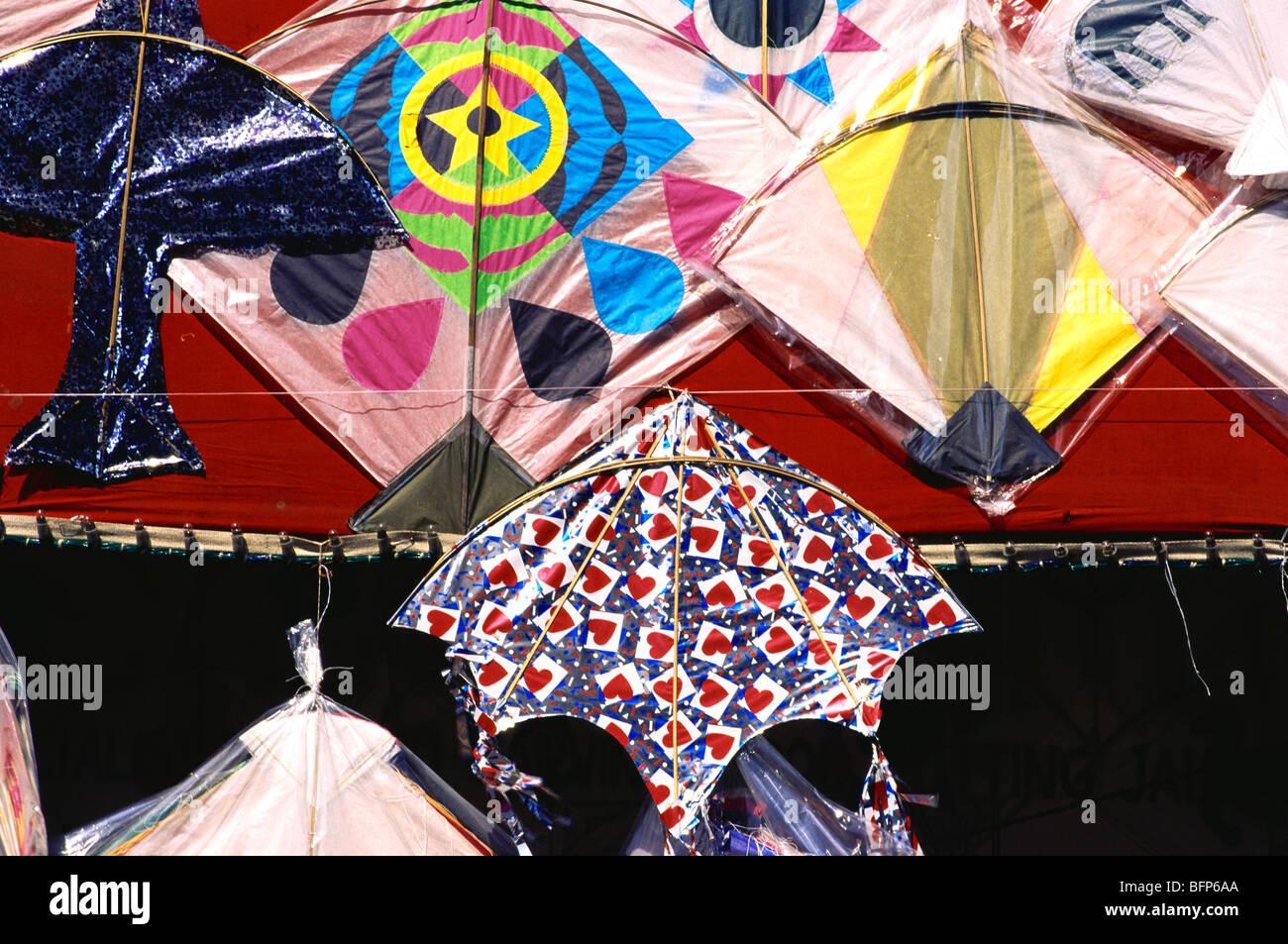 NMK 66285 : Various types of kites for Kite festival Makara