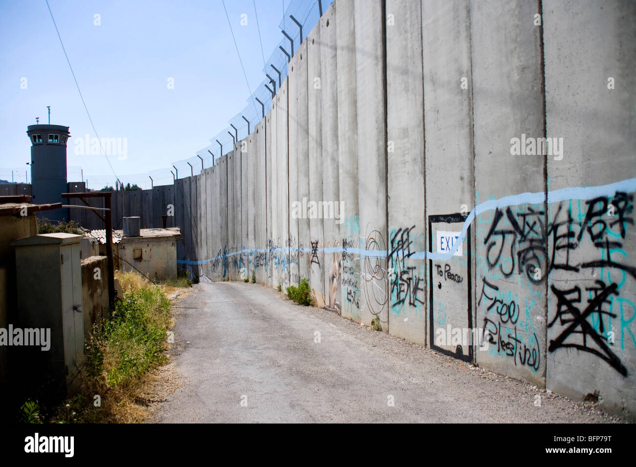 The wall in Bethlehem, Palestine, Middle East - Stock Image