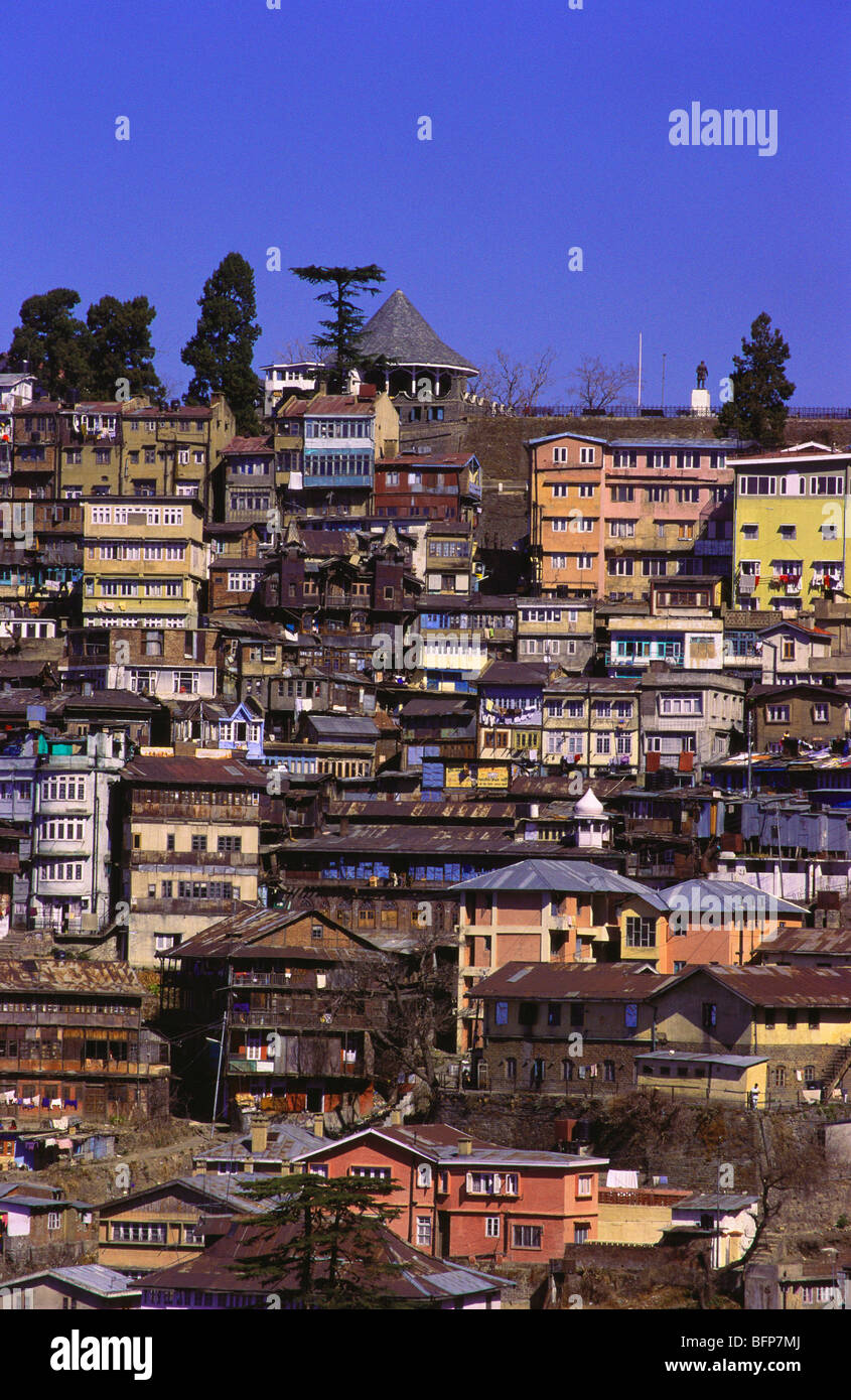 NMK 64891 : View of Shimla Simla ; Himachal Pradesh ; India - Stock Image