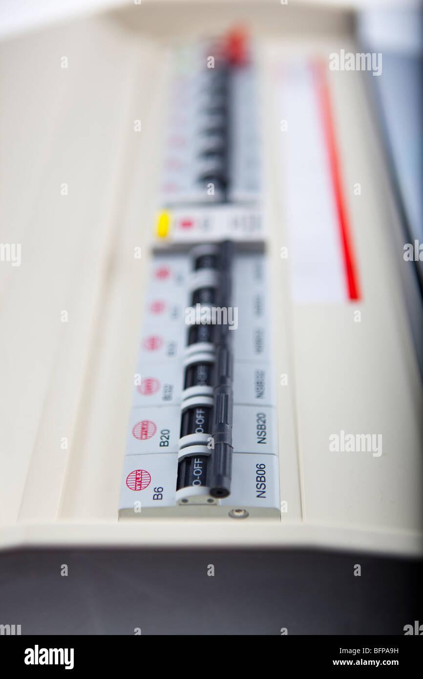 Consumer Unit Stock Photos Images Alamy History House Fuse Box Split Load Board Image