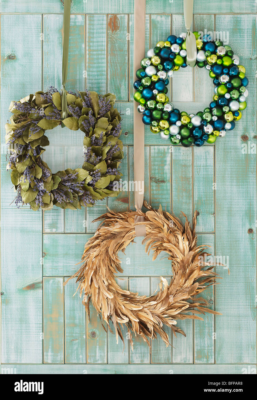 Holiday Wreaths For Home Decoration   Stock Image