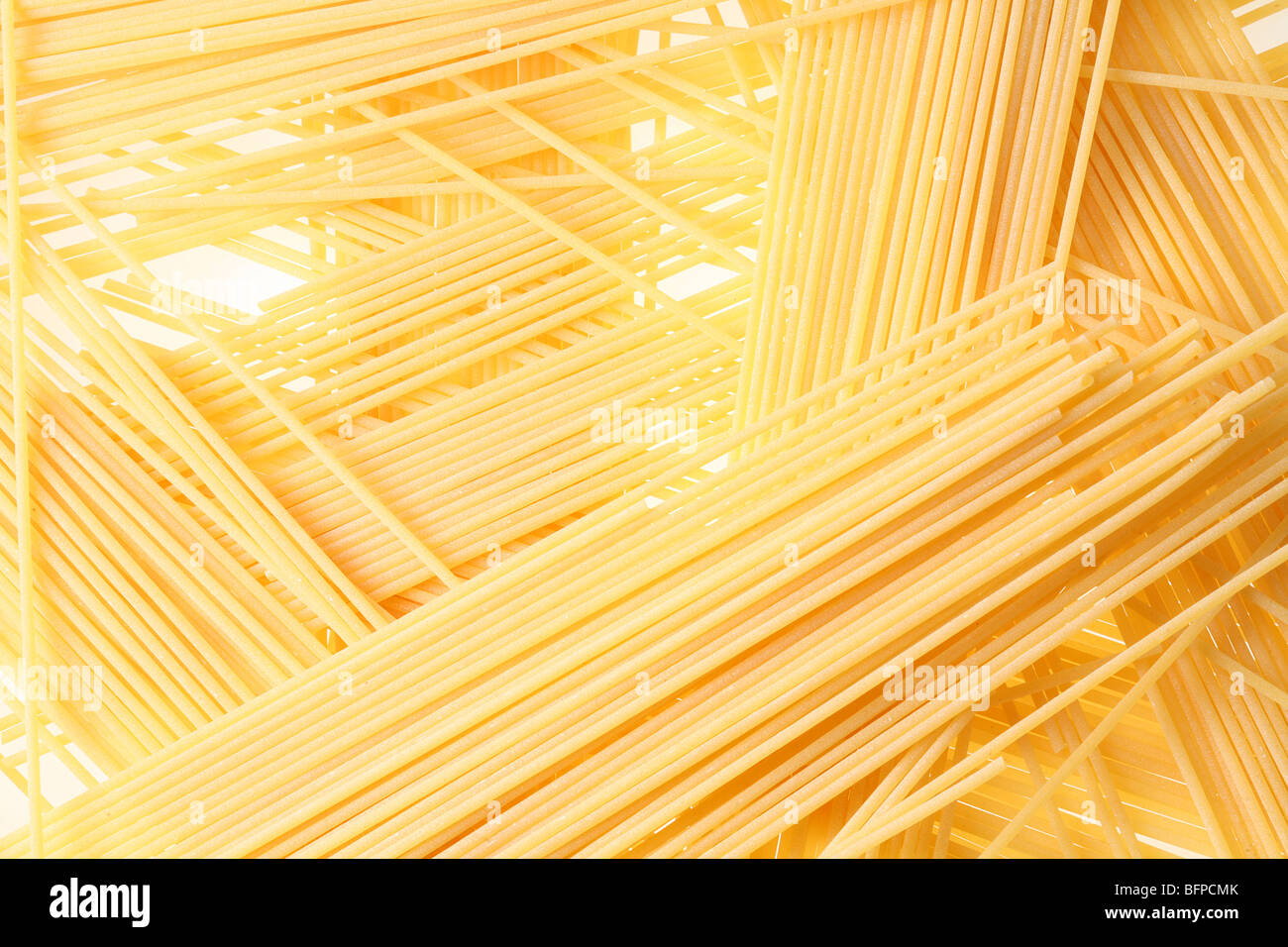 Back projected (lighted) spagetti (pasta) - Stock Image