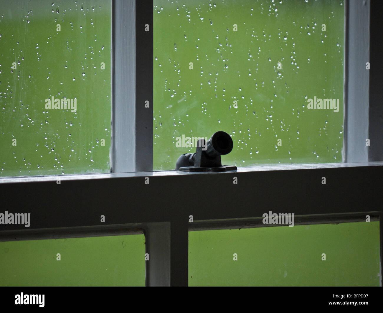 inside on a wet rainy day - Stock Image