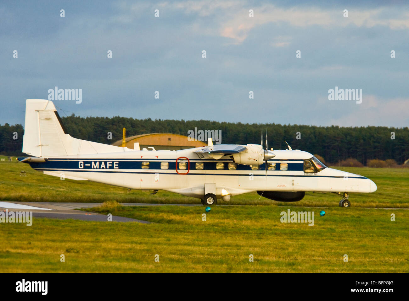 Dornier 228-202 Utility Transport Twin Engined Propellor Driven Aircraft  SCO 5569 - Stock Image