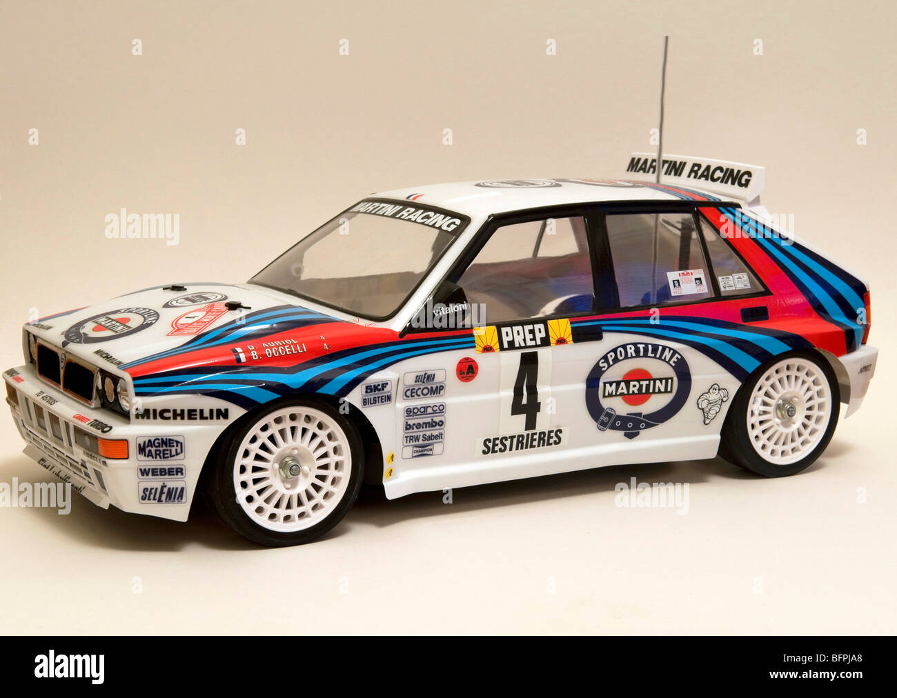 Tamiya radio controlled Martini colors Lancia Delta Integrale World ...