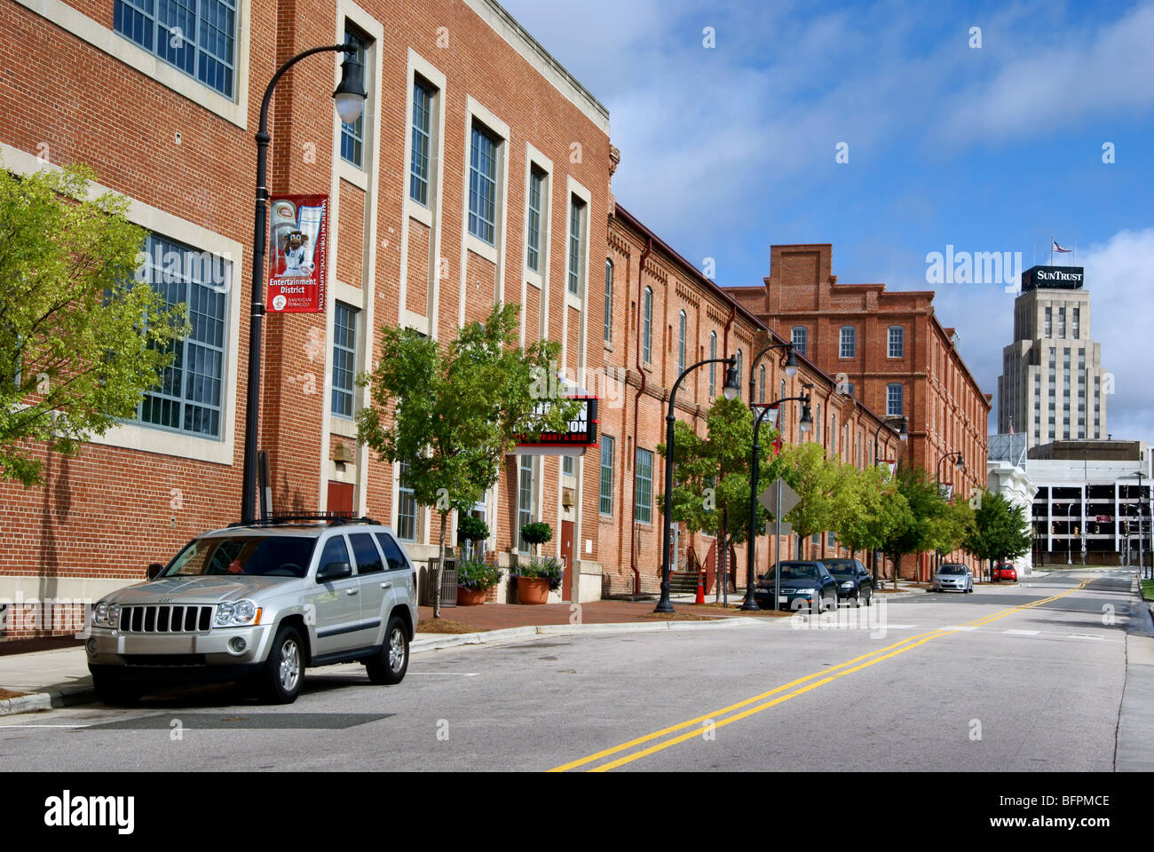 Durham, North Carolina, NC. Renovated American Tobacco district. - Stock Image