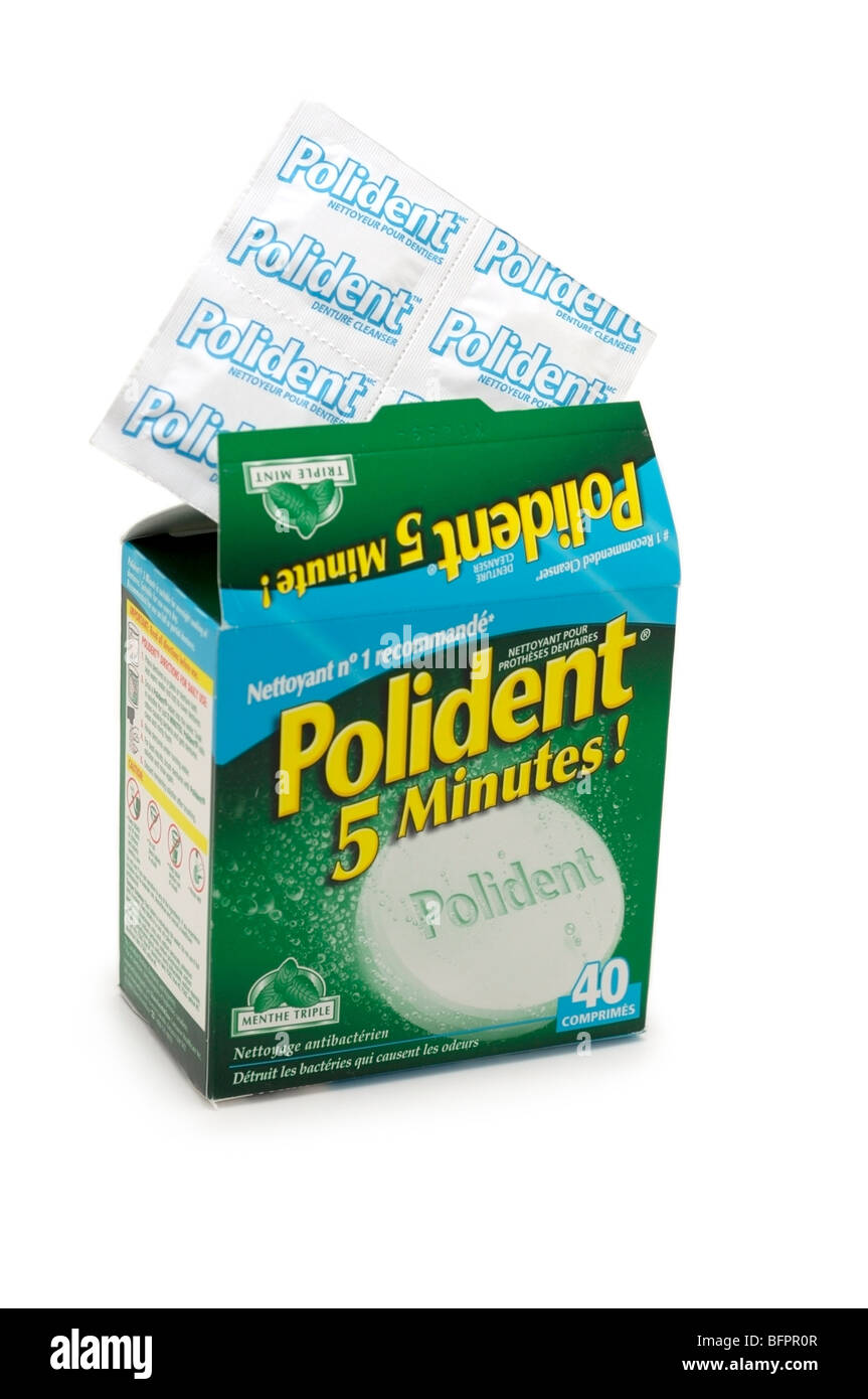 Denture Cleaning Tablets - Stock Image