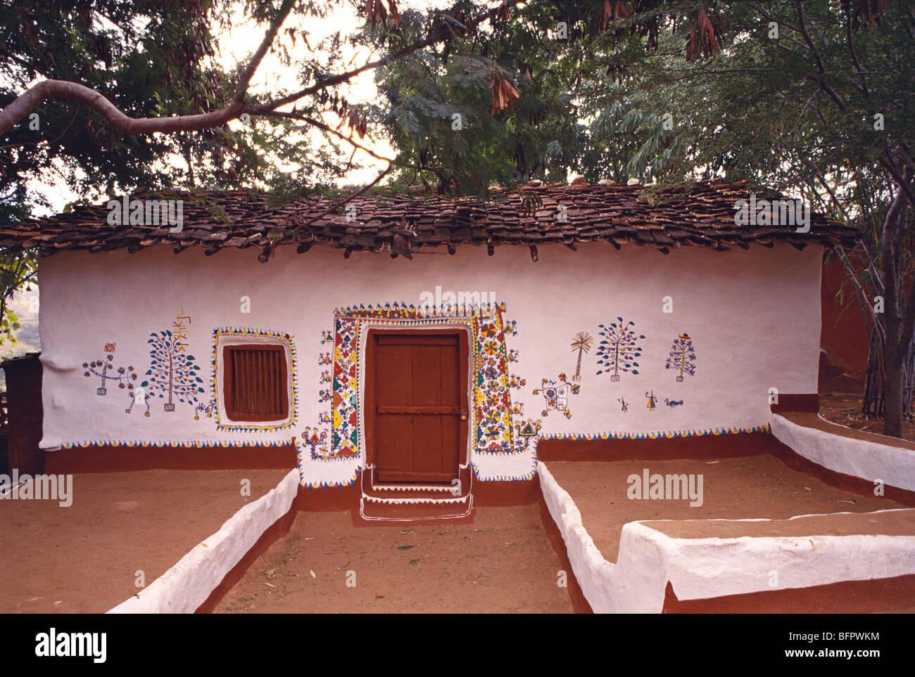 Aad 66504 Wall Painting Sehariya Tribe House Kota