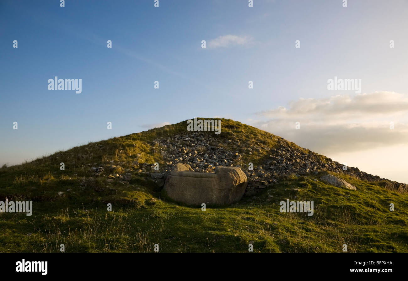 The Hag's Seat, Cairn T Passage Grave, Loughcrew Meaalithic Site, Slieve na Calliagh, County Meath, Ireland Stock Photo