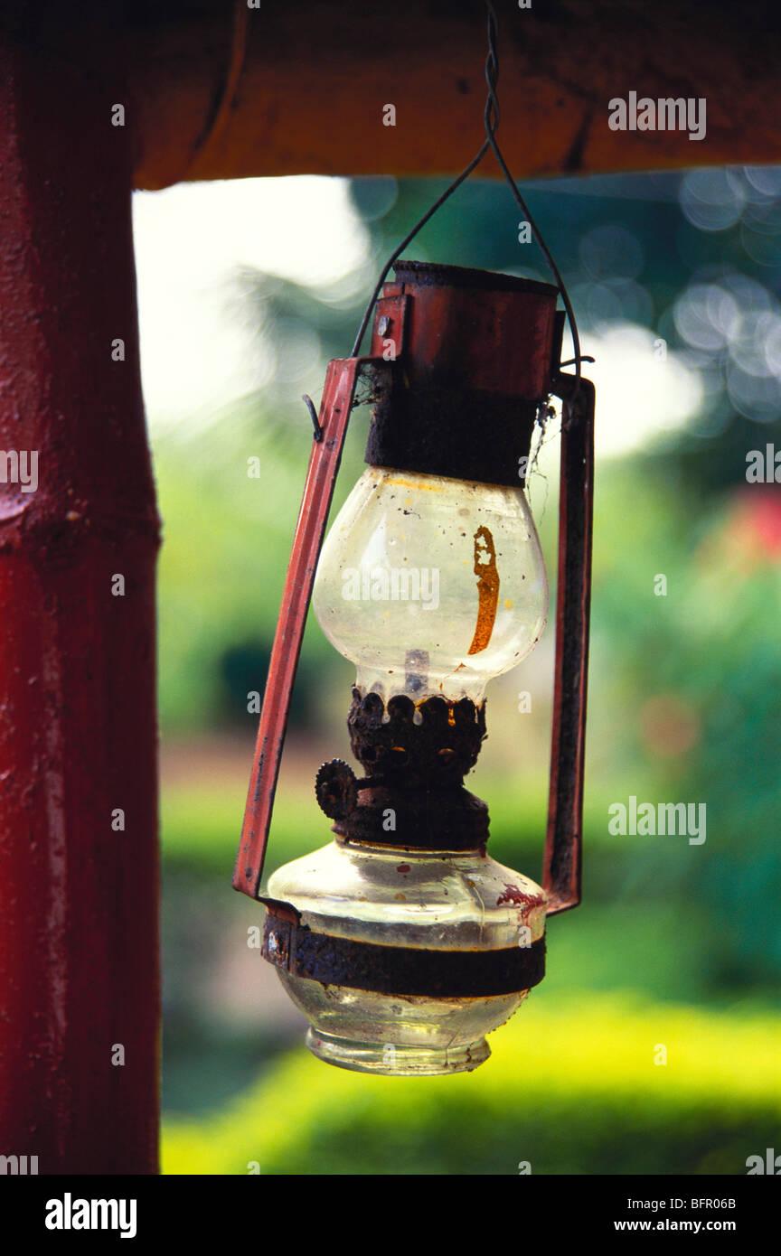 MBT 66979 : Lantern kerosene lamp ; Kudal ; Maharashtra ; India - Stock Image