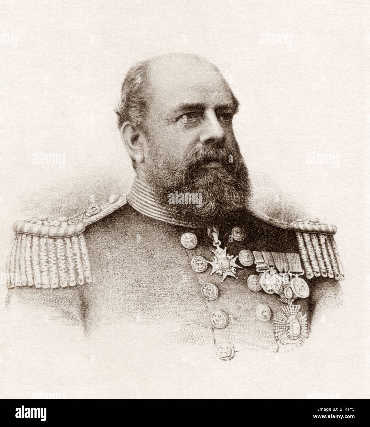 Vice-Admiral Sir George Tryon, 1832 to 1893.  British admiral. - Stock Image