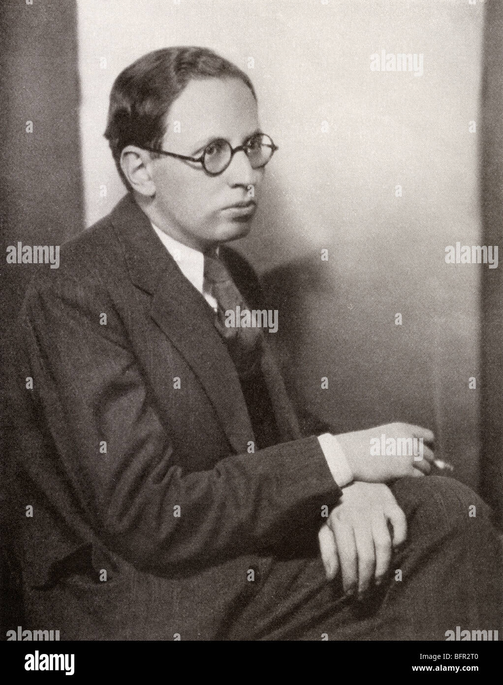 Elmer Rice, 1892 to 1967. American playwright. - Stock Image