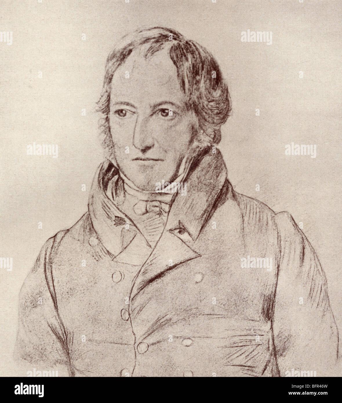Georg Wilhelm Friedrich Hegel, 1770 to 1831. German philosopher. - Stock Image