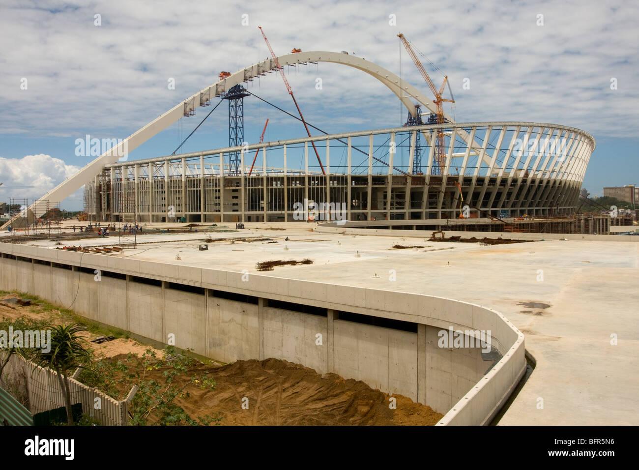 Durban's new King Senzangakhona Stadium which will host a 2010 Fifa World Cup semi-final. - Stock Image