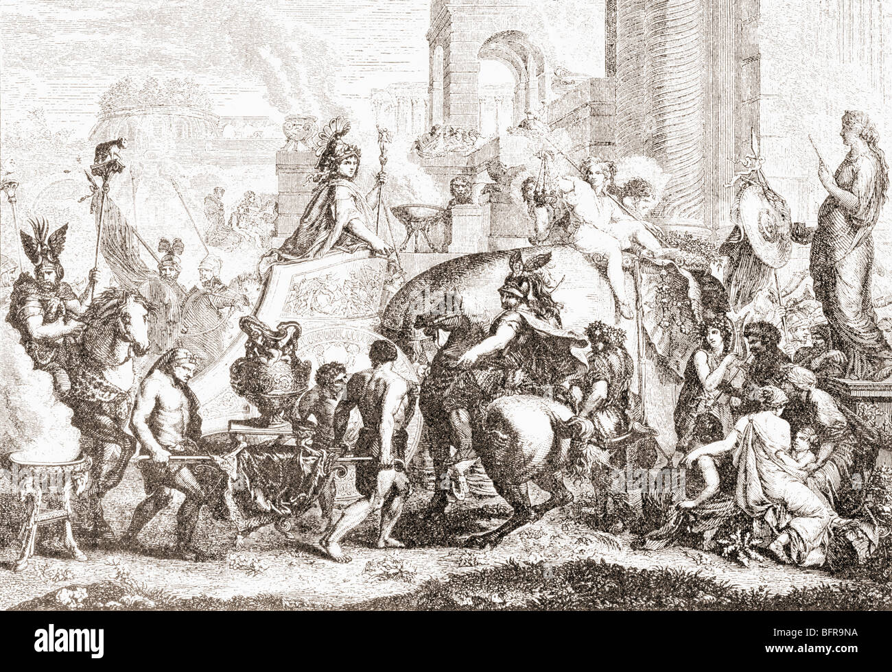 Alexander the Great enters Babylon in 331BC. - Stock Image