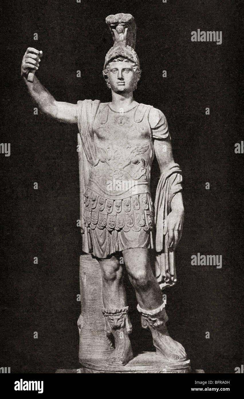 Alexander III of Macedon, aka Alexander the Great  356 to 323 BC.  Greek king of Macedon. - Stock Image