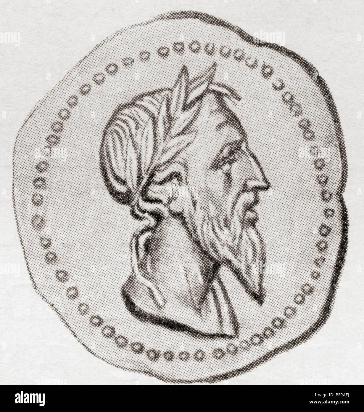 Romulus, c. 771 BC to c. 717 BC. Founder of Rome. - Stock Image