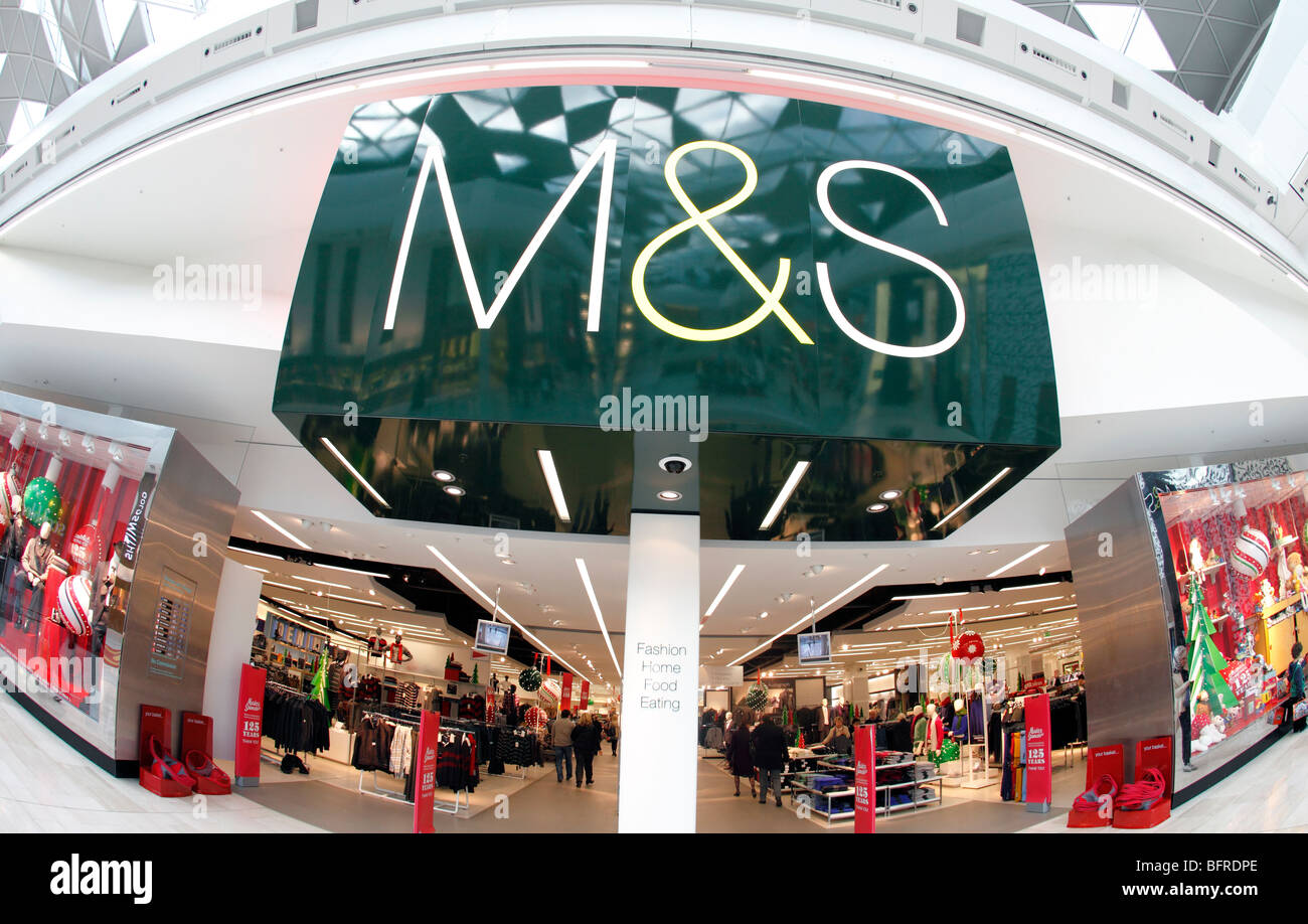 united kingdom west london white city the new marks and spencer store at westfield shopping centre - Stock Image
