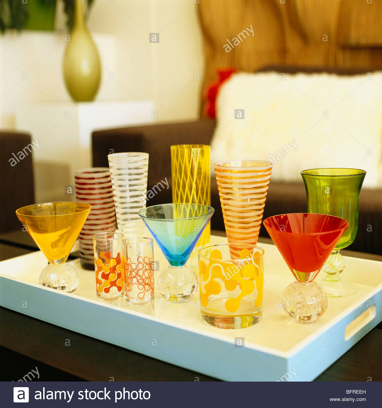 Glasses at Architectural Elements. - Stock Image