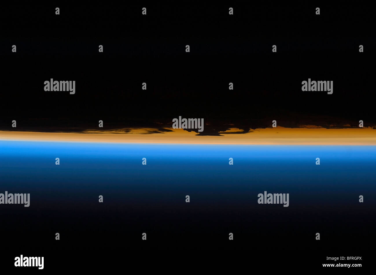 Layers of Earth's atmosphere - Stock Image