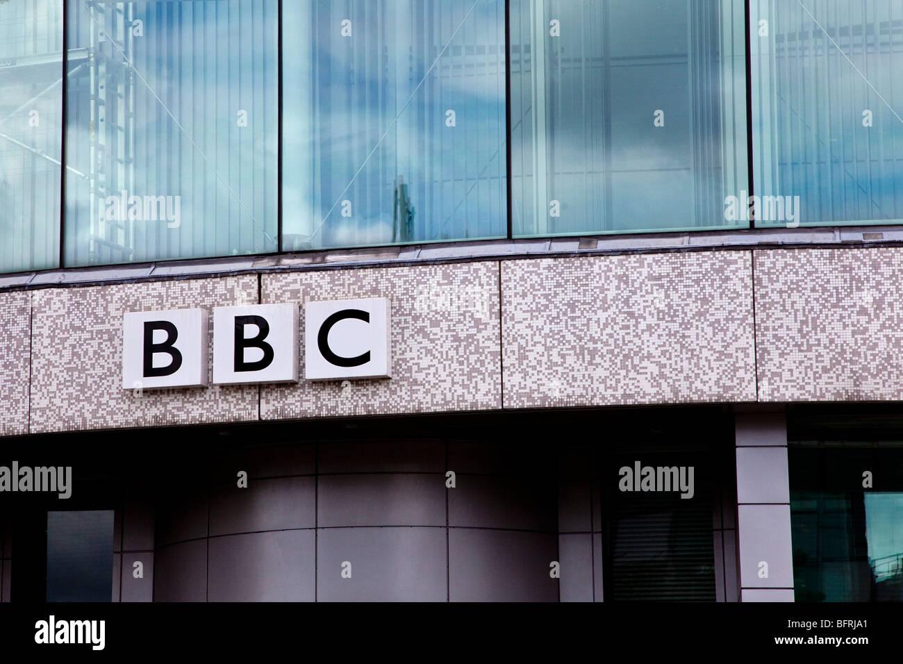BBC Television center, Wood Lane, London - Stock Image