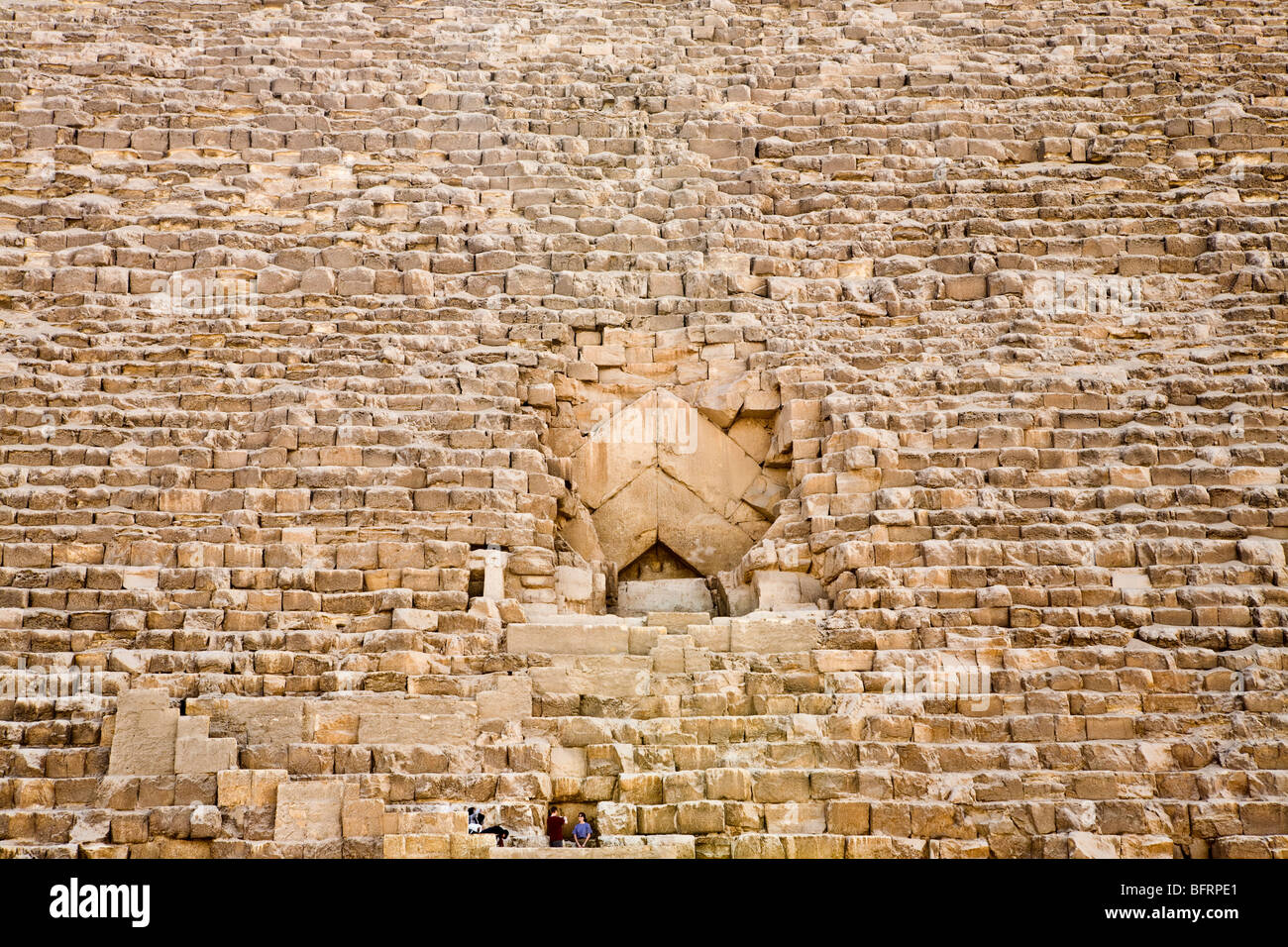 Tura Blocks Exposed On North Face Of The Great Pyramid Of Khufu On