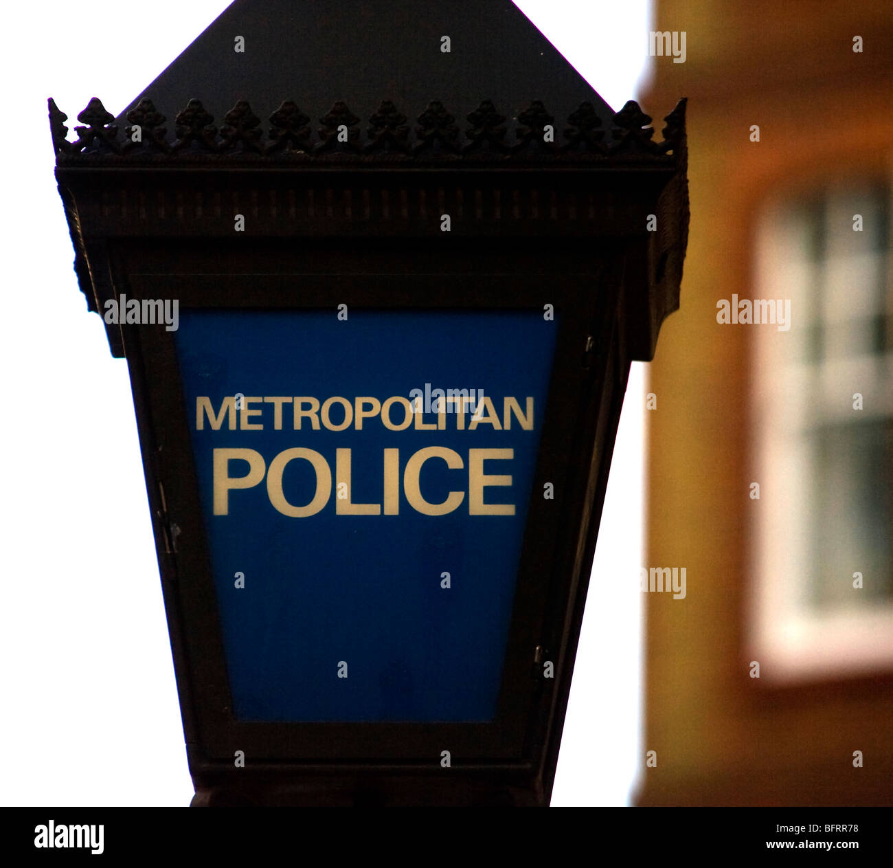 Metropolitan Police Sign, Covent Garden, London, UK - Stock Image