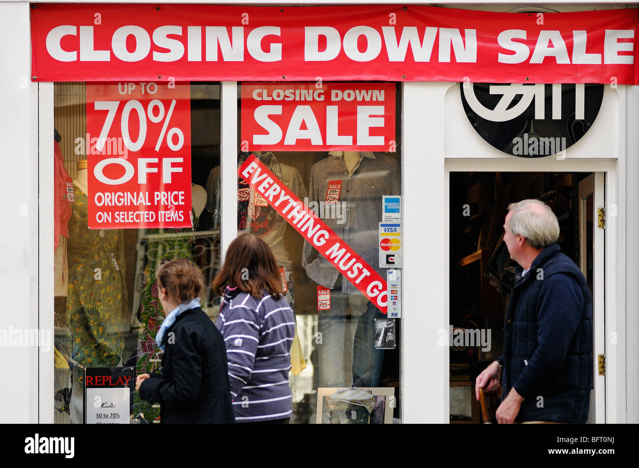 Closing Down Sale, Oxford, United Kingdom. - Stock Image