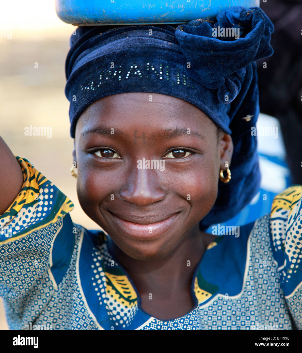 Young girl in Africa - Stock Image