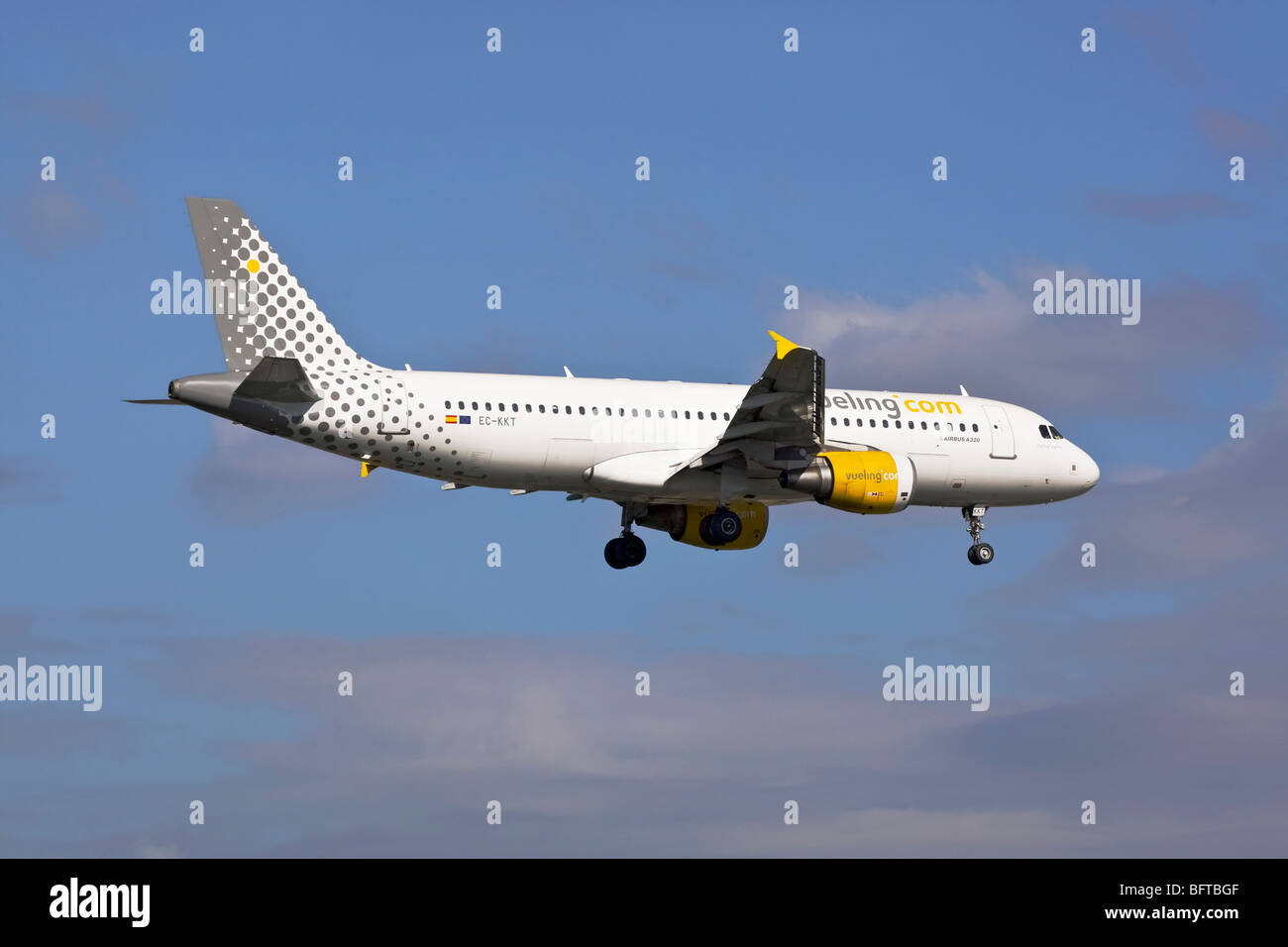 An Airbus A320 of the Spanish low cost operator Vueling airways - Stock Image