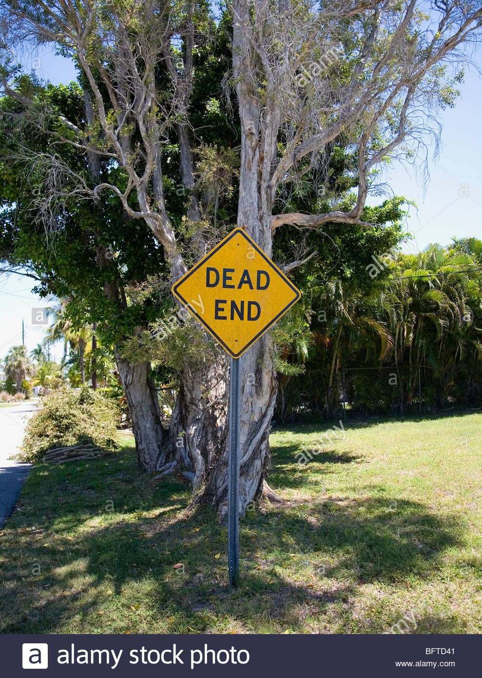 Dead end sign - Stock Image