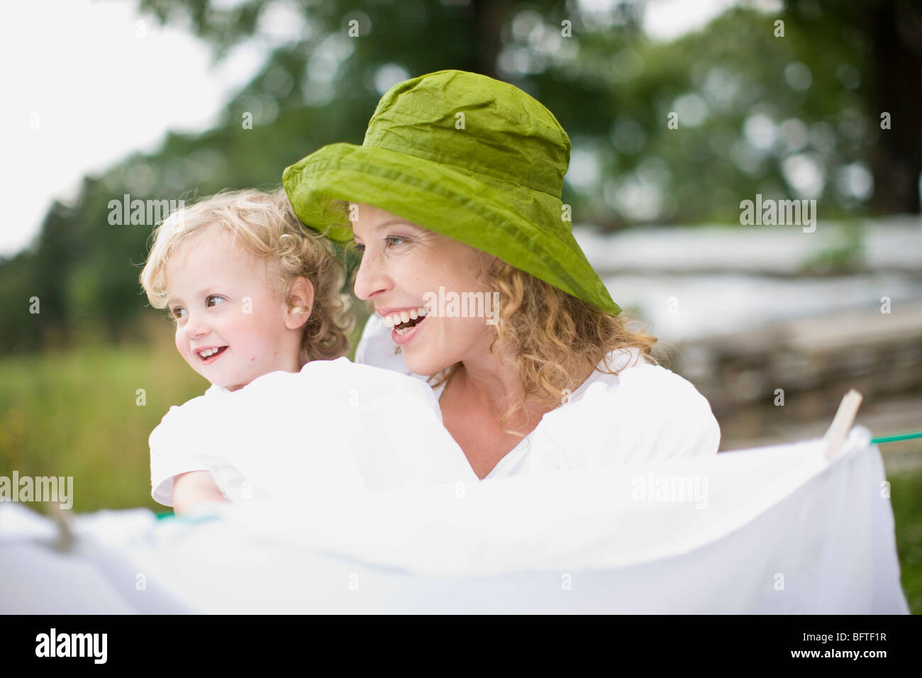 mother and little child - Stock Image