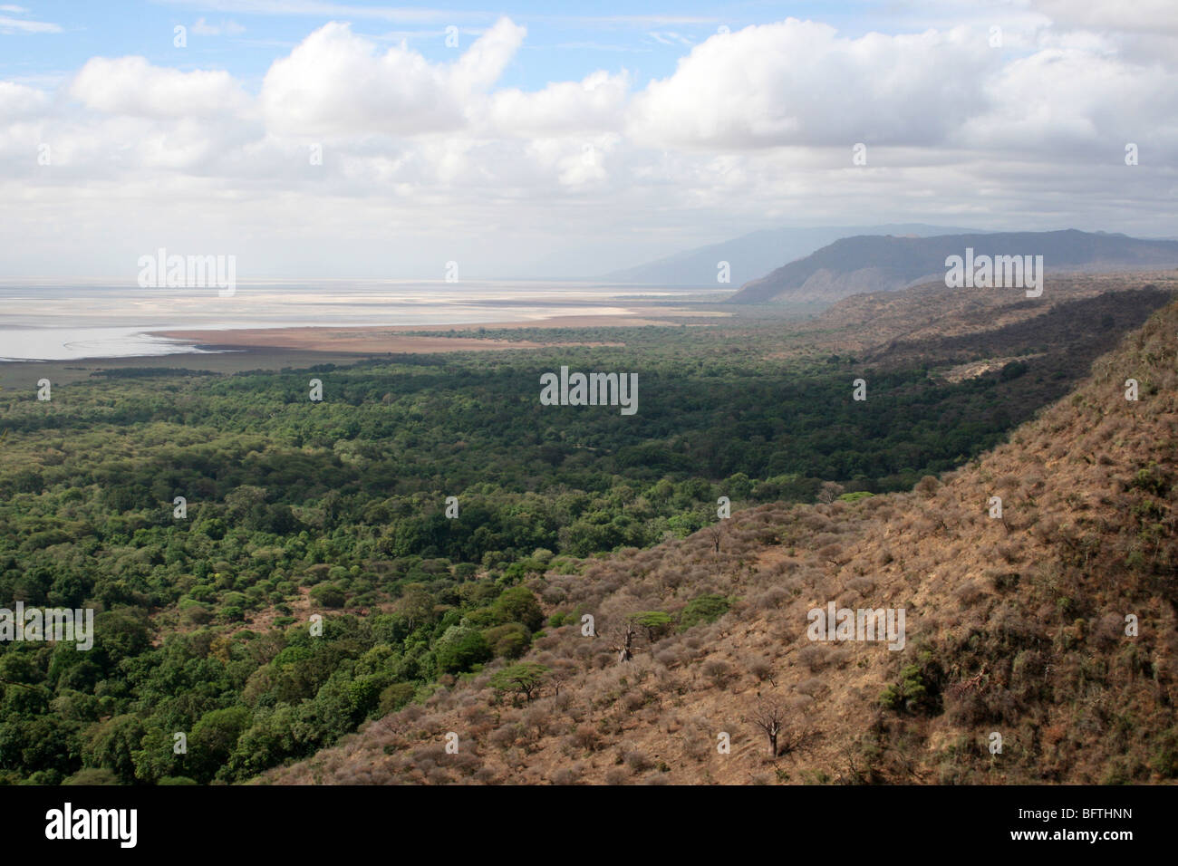 View Over The Great Rift Valley At Lake Manyara NP, Tanzania - Stock Image