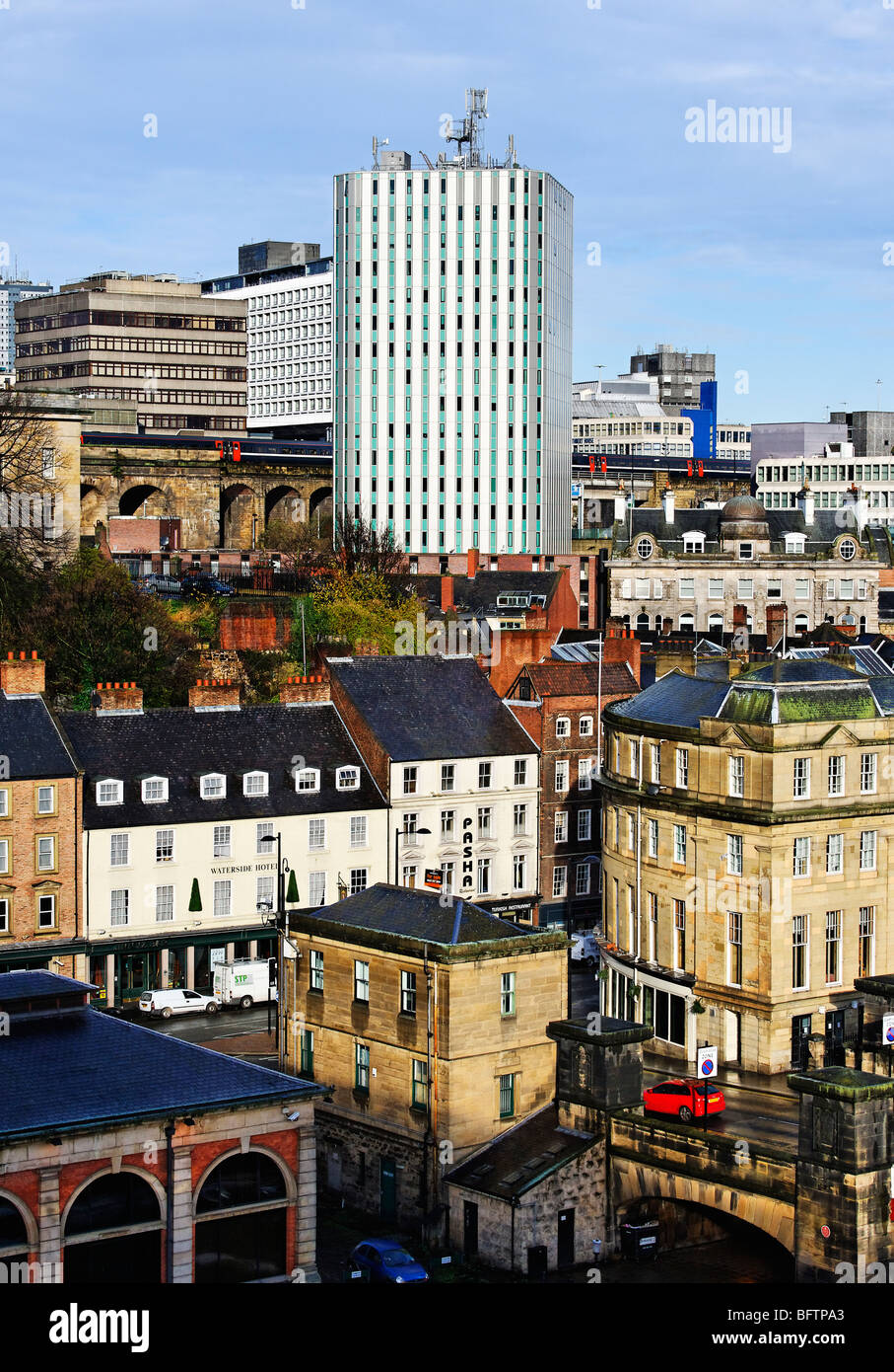 Part of the skyline of Newcastle upon Tyne Stock Photo