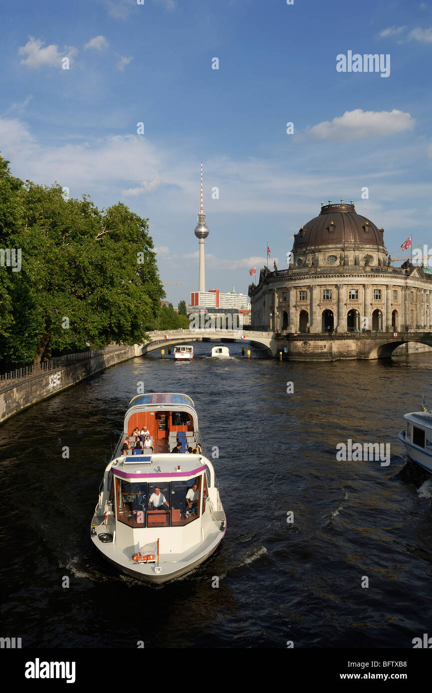 Berlin. Germany. River Spree & Musem Island Mitte. - Stock Image