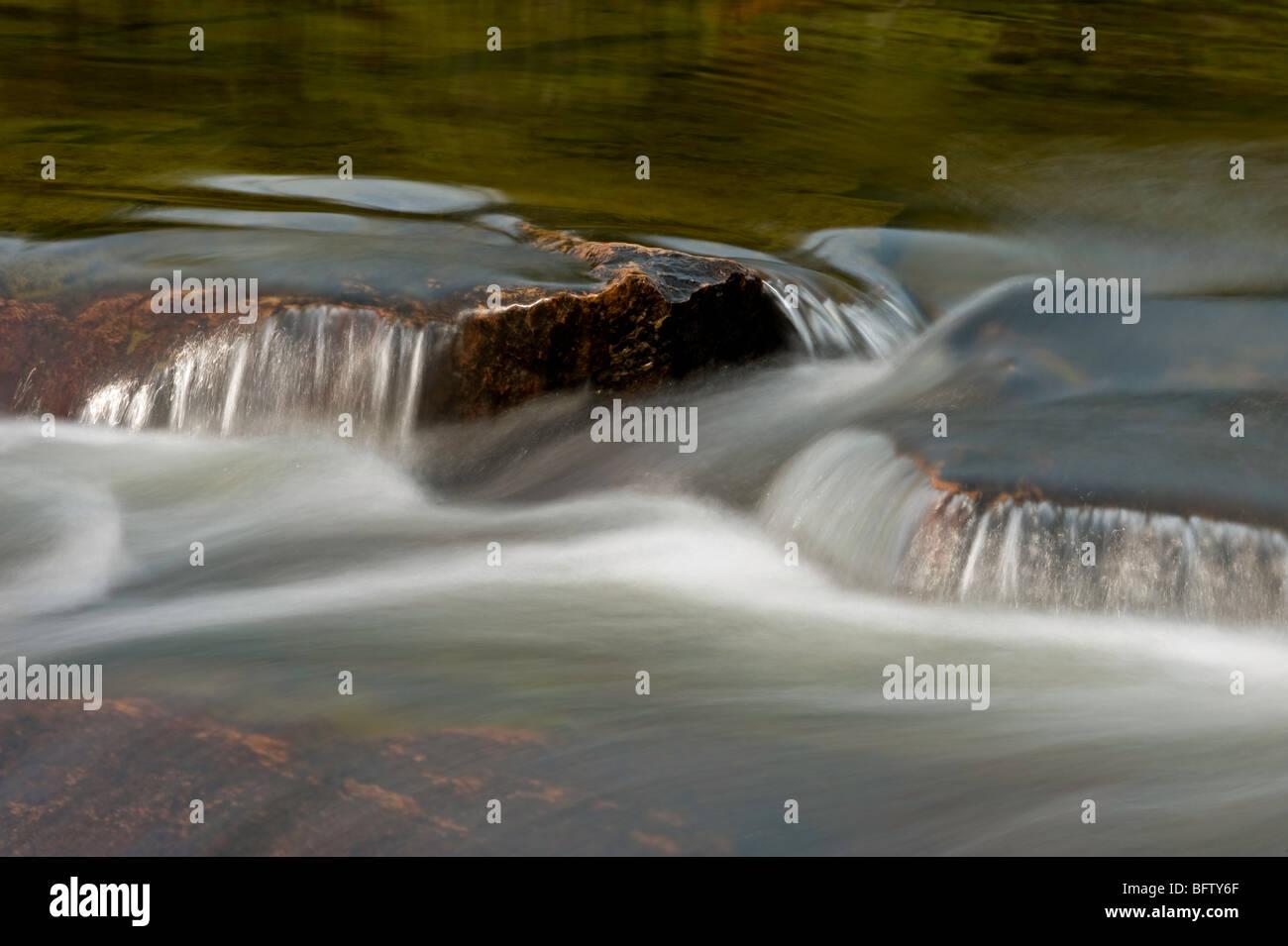 Waterfall on the Mahzenazing River, Killarney, Ontario, Canada - Stock Image