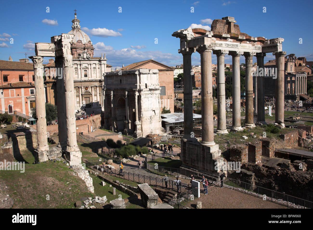 Forum Foro Romano - Stock Image