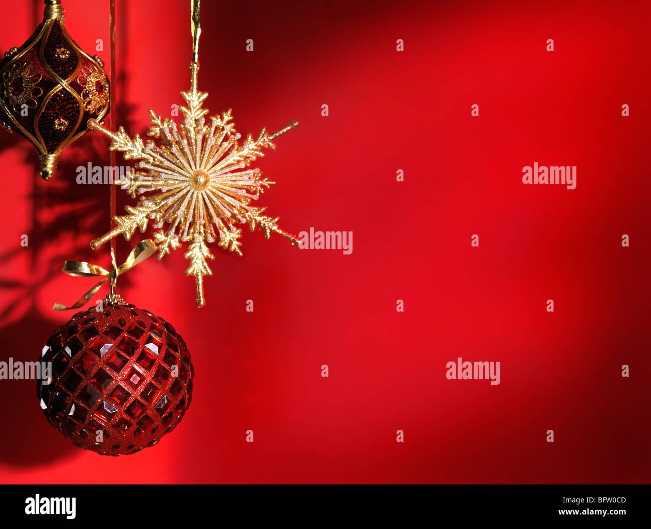 Beautiful Christmas decoration artistic still life background - Stock Image