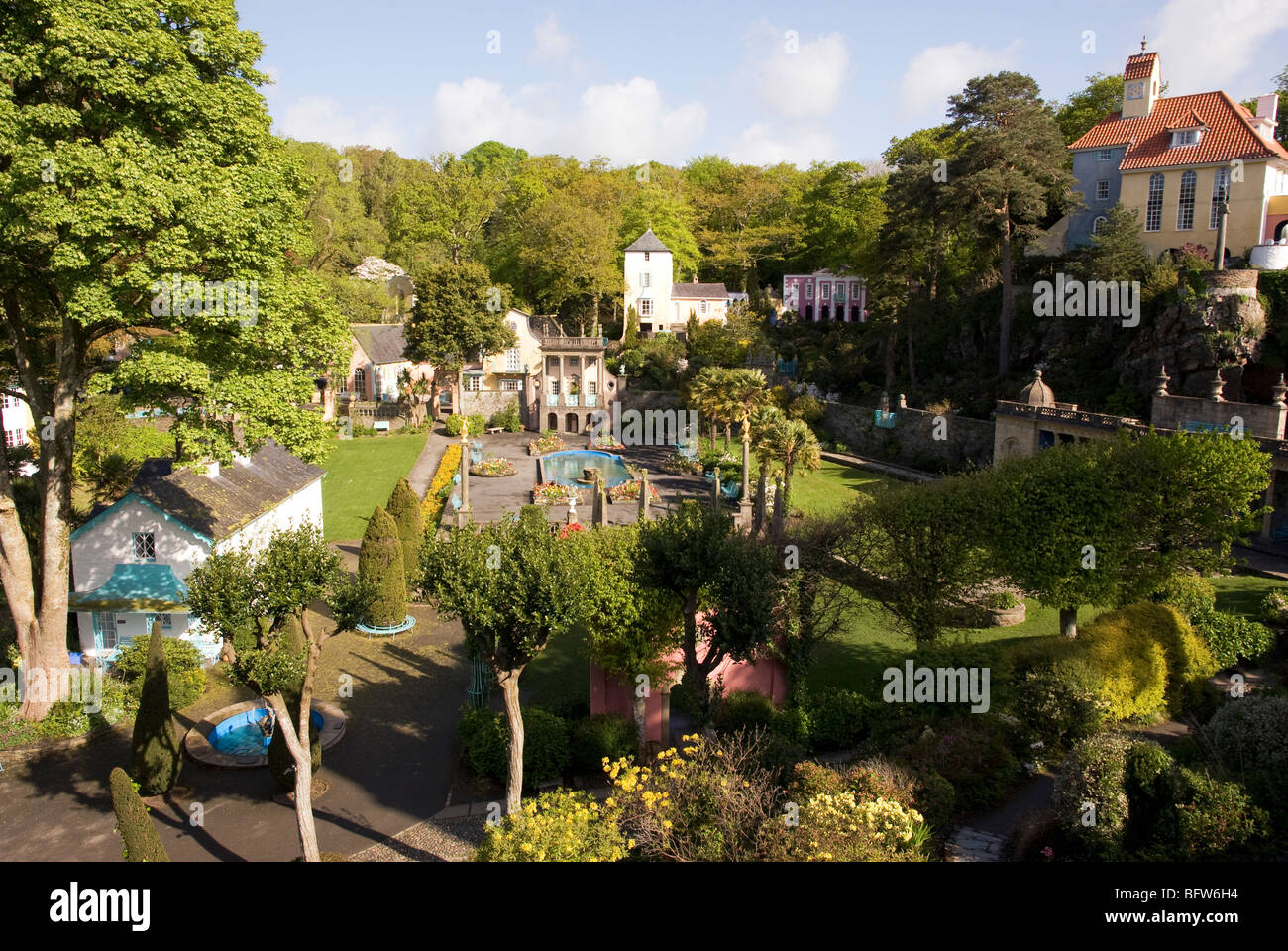 North Wales, Portmeirion village Stock Photo