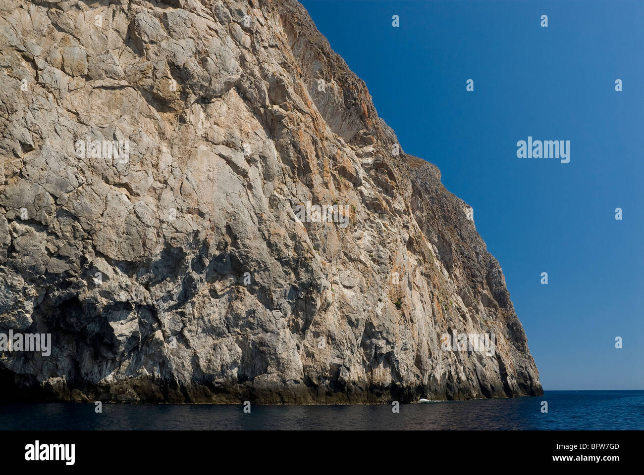 View of Chytra rocky islet, Kythira, Greece. - Stock Image