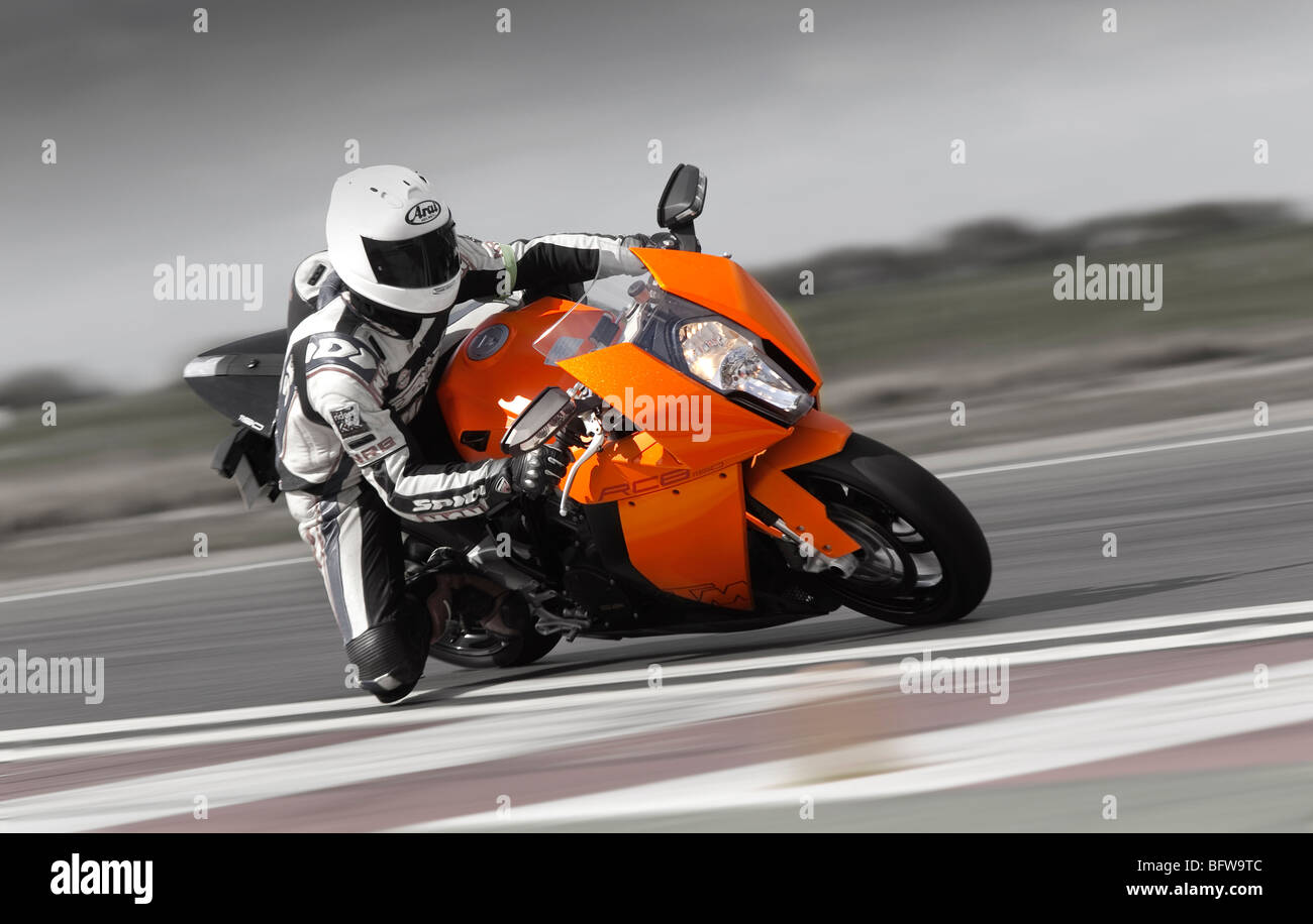 KTM 1190RCB 2010 at speed - Stock Image